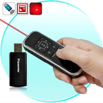 Wireless Presenter Laser Pointer and mouse 2 in 1, offers wireless presenter with mouse function,2.4GHz RF presenter, powerpoint laser presenter,,USB Laser presenter with Page up/down, RC Laser Pointer